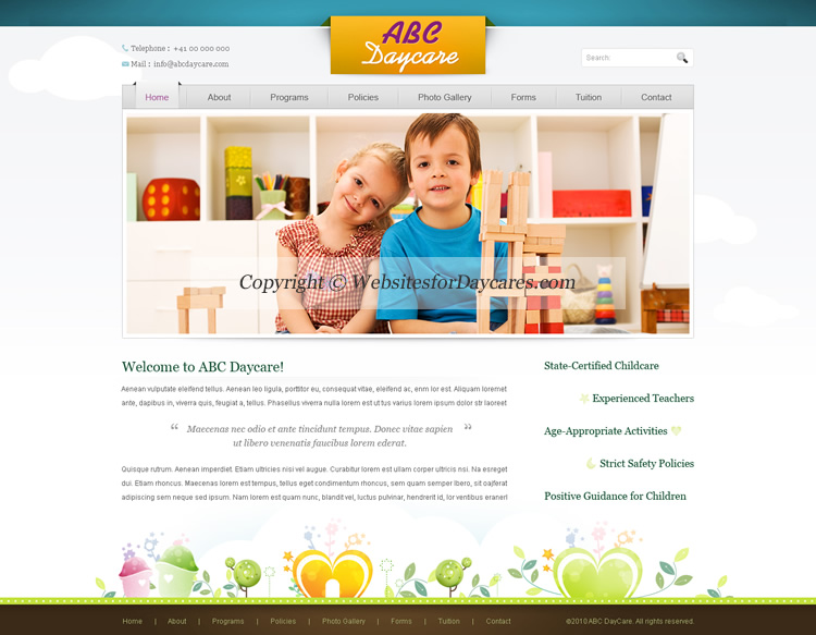 Daycare Website Templates | Childcare Website Templates | Cheap ...