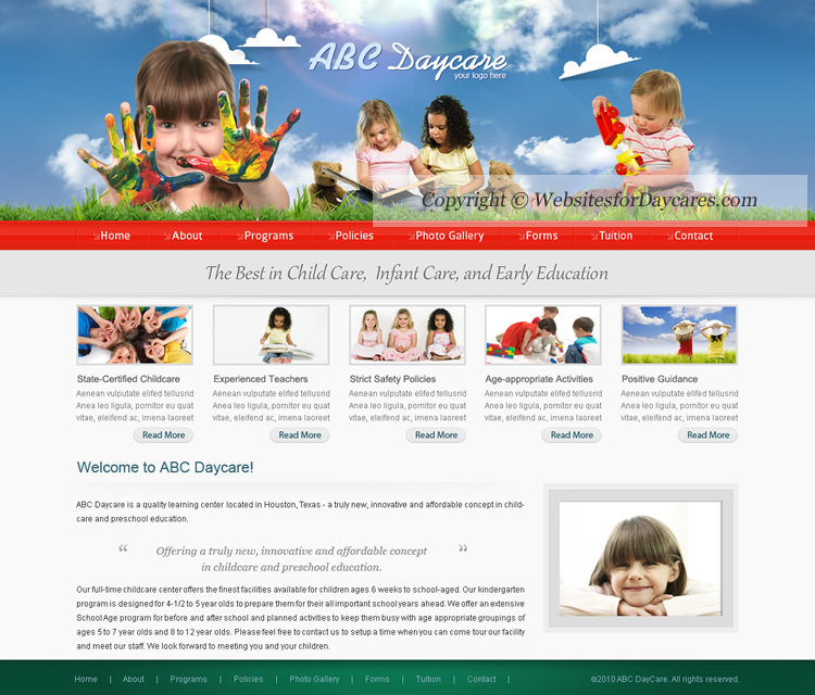 Daycare Website Templates | Childcare Website Templates | Cheap Day ...